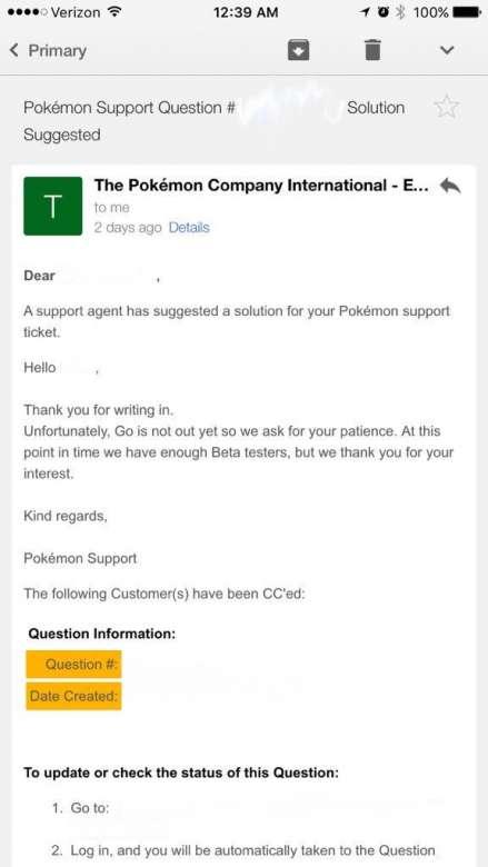 Sortie de la bêta de Pokemon GO
