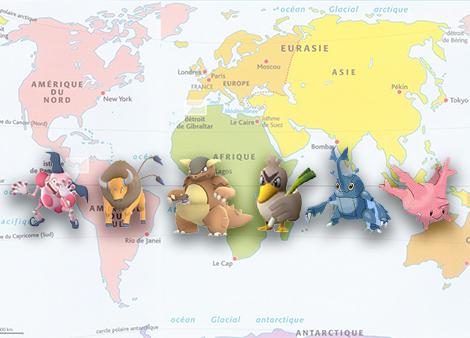 Pokemon Go : de nouveaux Pokemon Régionaux ?