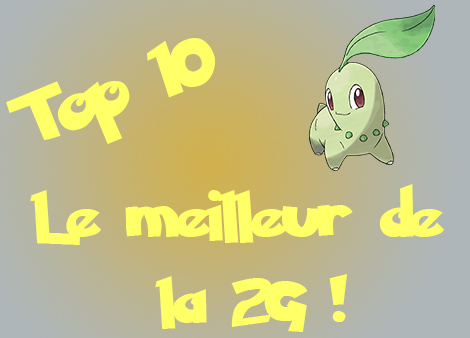 top 10 meilleurs pokemon 2G