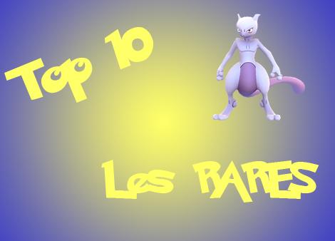 top 10 pokemon rares une