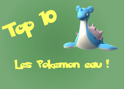 top 10 pokemon eau