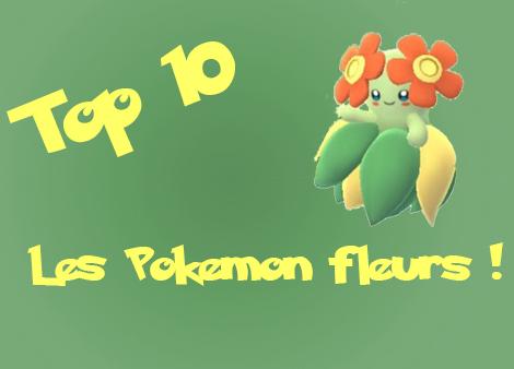 top 10 pokemon fleurs