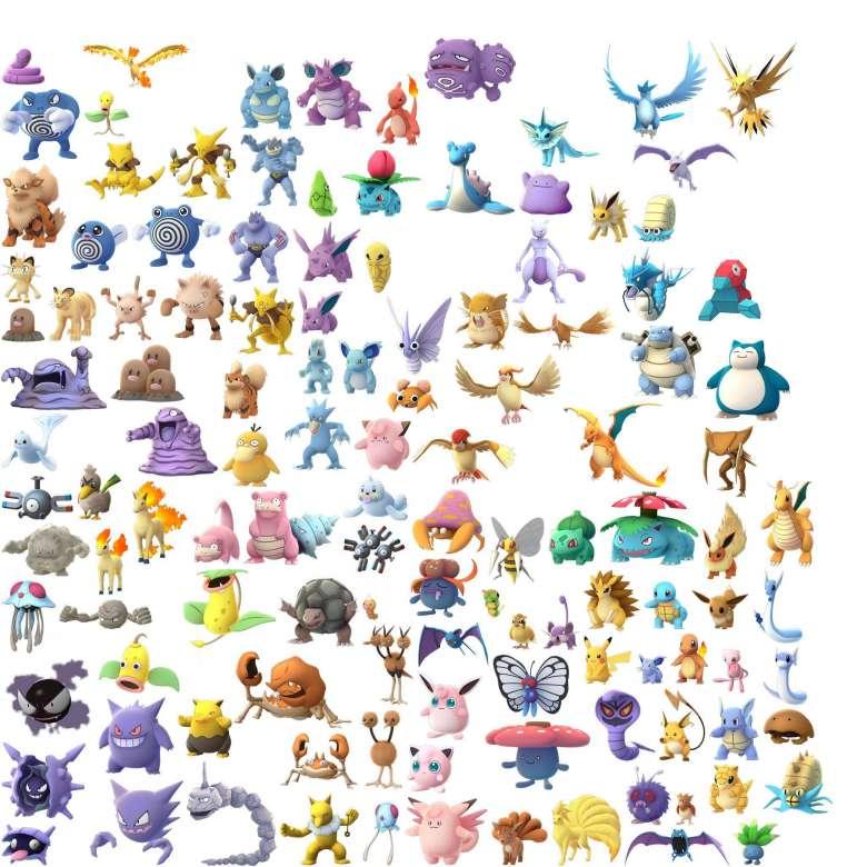 Les 151 Pokemon de Pokemon GO