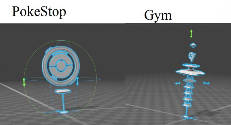 Les arènes dans Pokemon GO sont symbolisées ainsi sur la carte et le but des différentes équipes est d'en prendre le contrôle. Sur cette image personne n'a encore « capturé » l'arène ce qui en fait un point « neutre ». La première équipe à s'y rendre contrôlera donc cette arène.