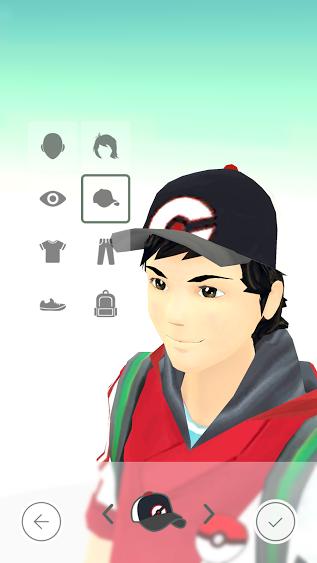 Modification de l'avatar Pokemon GO