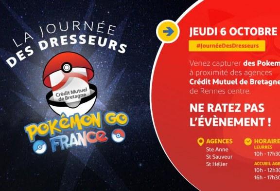 A Rennes, participez à l'événement Pokémon Go !