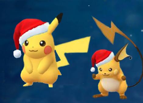 Pokemon Go : obtenir Pikachu et Raichu de Noël