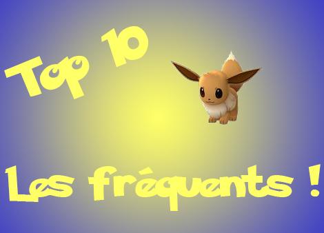 Pokemon Go : Top 10 Pokemon les plus fréquents