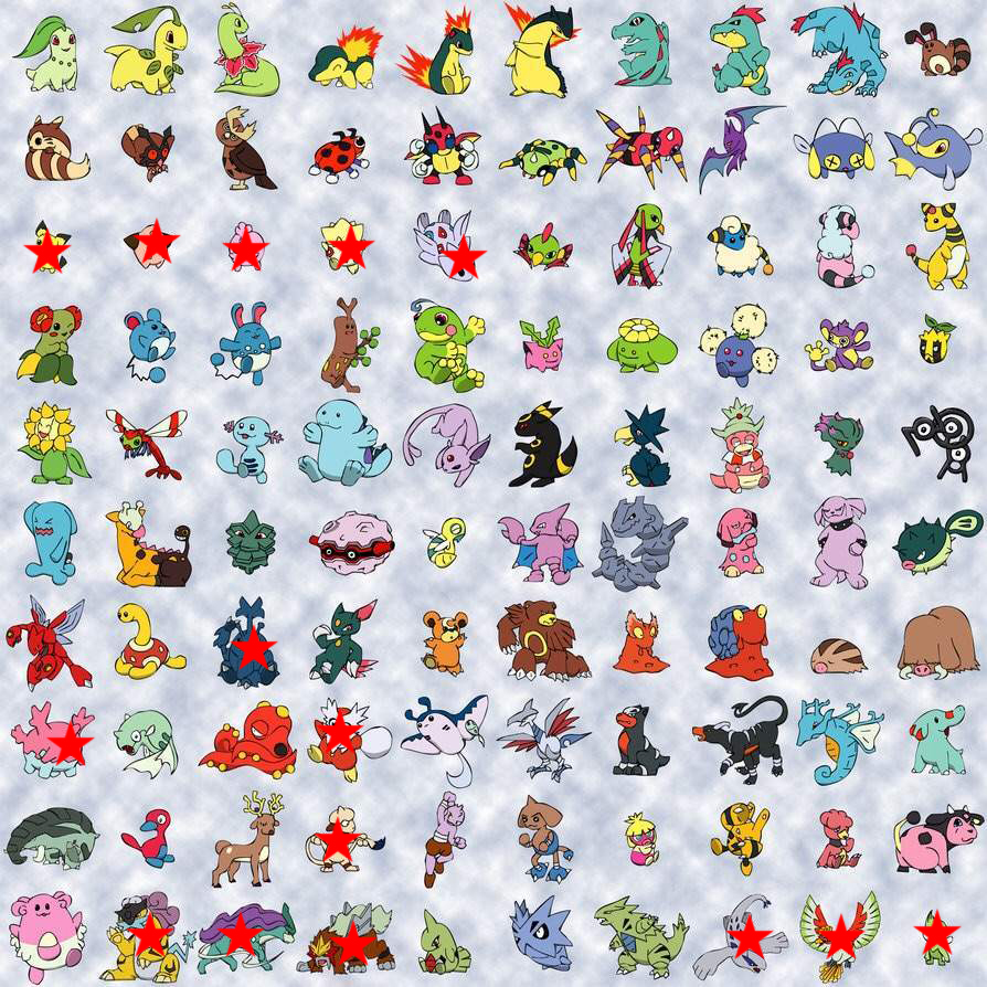 80 pokemon 2e generation