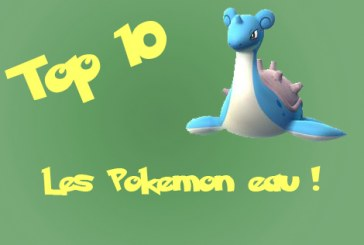 Pokemon go : top 10 des Pokemon eau