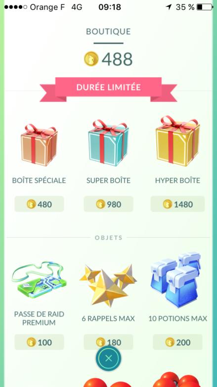 Les soldes aujourd'hui sur Pokemon GO !