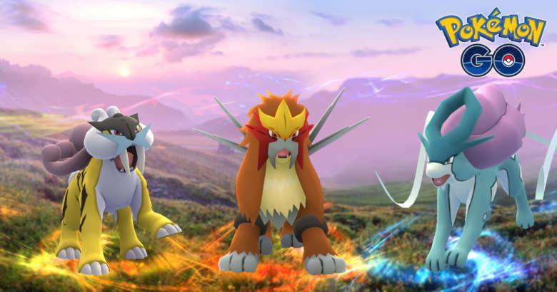 Entei Raikou et Suicune disponibles dans Pokemon GO !