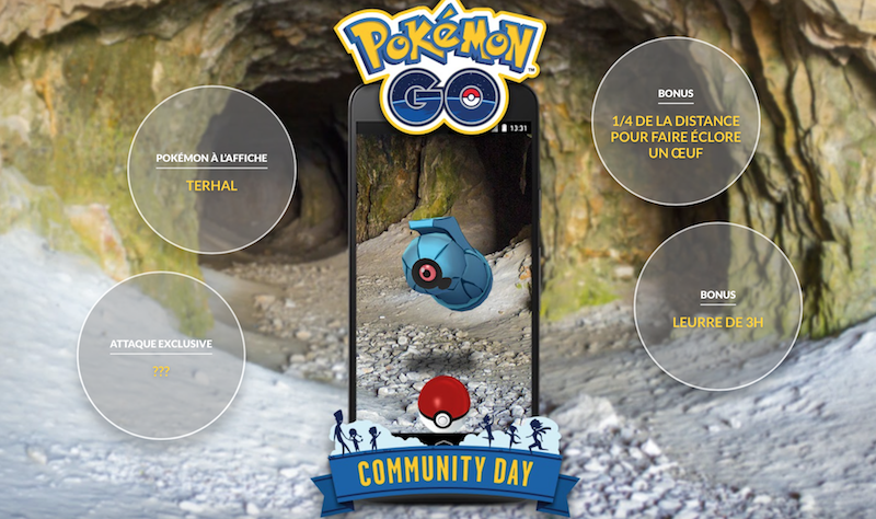 Terhal pour le Community Day Pokemon GO !